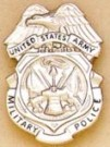 Military Police US Army MP badge Nickel Original