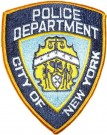 New York Police Department NYPD tygmärke