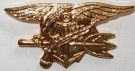 Pin Navy Seal Trident Officer guld