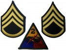 2nd Armored Division + Staff Sgt Rank Blue WW2 typ