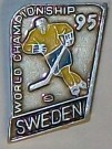 Sverige VM Pin Hockey 1995