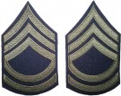 Rank Master Sergeant First Class Olivgrön US Army WW2 repro
