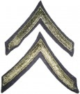 Rank Private Olivgrön US Army WW2 Original