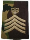 Rank slide Cavalry Staff Corporal DPM Woodland