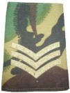 Rank slide Sergeant DPM Woodland