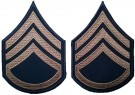 Rank Staff Sergeant Khaki US Army WW2 repro