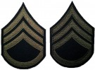 Rank Staff Sergeant Olivgrön US Army WW2 repro