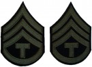 Rank Technician 3rd Grade Olivgrön US Army WW2 repro