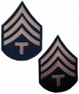 Rank Technician 4th Grade Khaki US Army WW2 repro