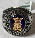 Ring USAF US Air Force Rhodium