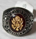 Ring US Army Rhodium