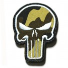 Punisher Skull Tygmärke Kardborre