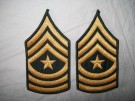 Sergeant Major ärm rank US Army