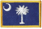 South Carolina Flagga State USA Färg Sy-på