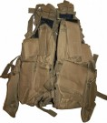 Stridsväst 12 fickor Tactical USMC Coyote Tan