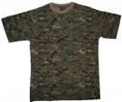 T-Shirt Digital Woodland Camo USMC