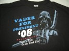 T-Shirt Star Wars Vader for president: XL