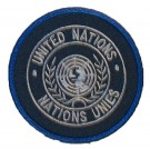 Tygmärke FN UN United Nations - Nations Unies