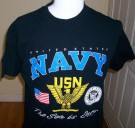 T-Shirt Sea is ours US Navy: L