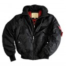 Jacka MA-1 D-TEC Alpha Industries Hooded Black: M