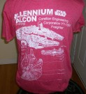 Star Wars T-Shirt Millennium Falcon Blueprint: L