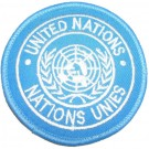 Tygmärke+FN+UN+United+Nations+-+Nations+Unies