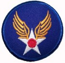 Tygmärke USAAF US Army Air Force Corps