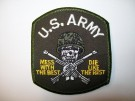 "Tygmärke US Army ""Mess with the best- Die like the rest"""
