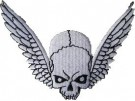 Tygmärke Winged Skull