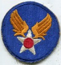 Tygmärke USAAF US Army Air Force WW2 Original