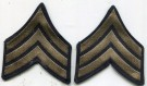 Rank Sergeant Silver/Svart US Army WW2 original