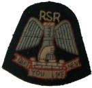 Uniformsmärke Raiding Support Regiment RSR WW2 Original typ