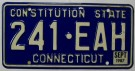 Connecticut Nummerplåt USA Constitution State