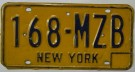 New York Nummerplåt USA Vintage 70-tal