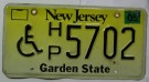 New Jersey Nummerplåt USA Disabled