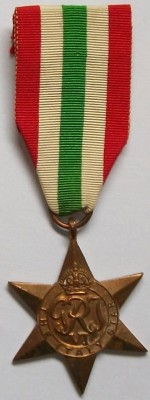 Medalj+Italian+Star+1943-45+WW2+original
