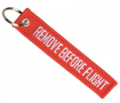Nyckelring Remove before flight