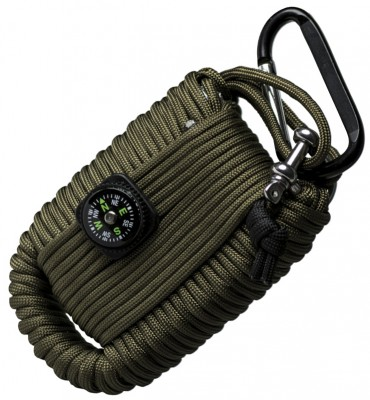 Paracord Survival Kit Oliv Large