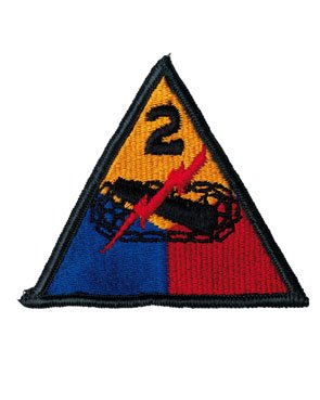 2nd Armored Division patch WW2 color