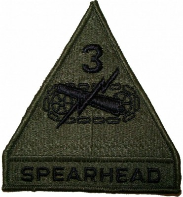3rd Armored Division Spearhead Tygmärke subdued
