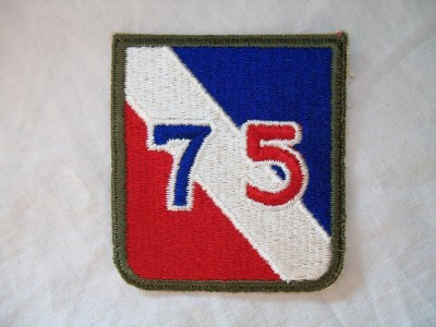 75th Infantry Division Combat patch färg WW2 original