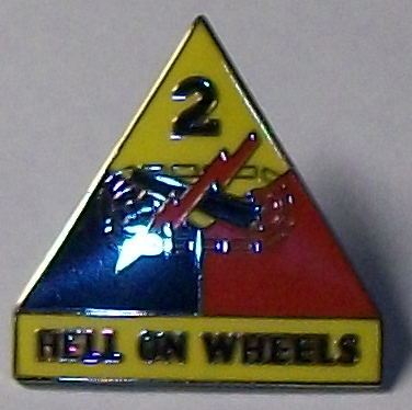 2nd Armored Division Hell on Wheels Pin