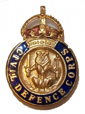 Civil Defence Corps pin WW2 original