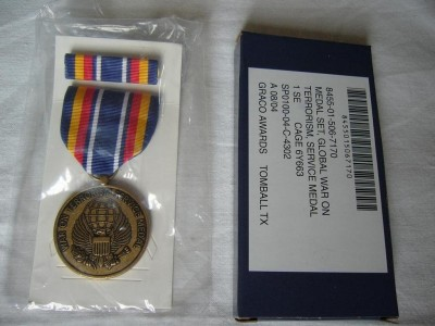 Global War on Terrorism Service Medaljset i ask