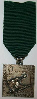 Medalj Alpine Troops 1940 WW2 original Italien