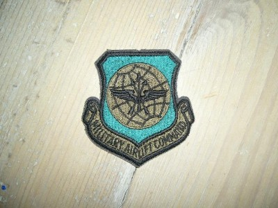 Military Airlift Command US Air Force patch Subdued