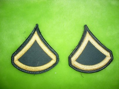 Private First Class ärm rank US Army