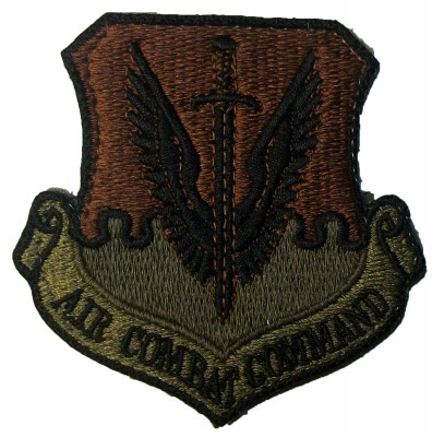 Air force Patch USAF Air Combat Command Kardborre
