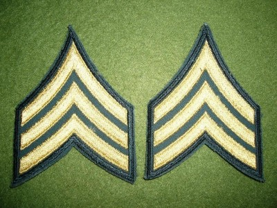 Sergeant ärm rank US Army