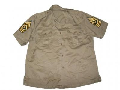 skjorta khaki us army 1958 sgt major uniformer   utrustning u s e056a8e4b181f